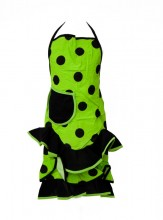Spanish Flamenco Apron limegreen black