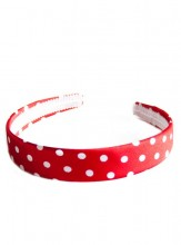 Headband red with white dots