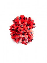 Hair Flower red with black dots