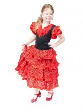 Spanish Flamenco Dress red/black