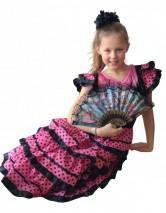 Spanish Flameco dress black/pink