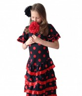 Spanish Flamenco Dress DeLuxe black red