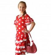 Spanish Flamenco Dress DeLuxe red white
