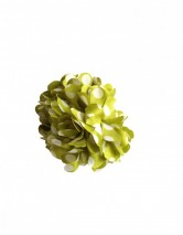 Hair Flower green with white dots