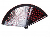 Flamenco Fan black red wood