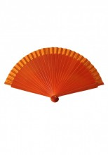 Flamenco Fan orange wood