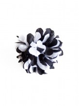 Hair flower black white