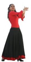 Flamenco skirt black/red