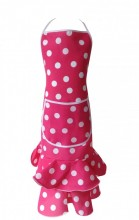Spanish Flamenco Apron Deluxe pink white