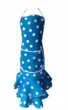 Spanish Flamenco Apron Deluxe blue white