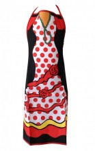 Flamenco cooking Apron women rose