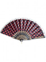 Flamenco Fan black red lace