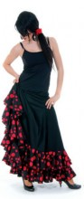 Flamenco skirt Ladies with dots and Volants