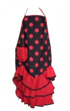 Spanish Flamenco Apron black red