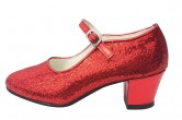 Flamenco Shoes Red Glitter