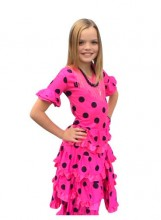 Spanish Flamenco Dress Deluxe pink black