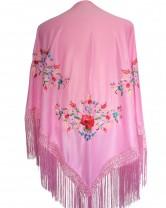 Flamenco Shawl light pink triangular