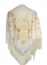 Flamenco Shawl off white gold