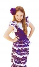 Spanish Flamenco Dress purple white