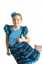 Spanish Flamenco Dress black blue