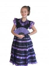 Spanish Flamenco Dress black purple