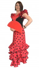 Ladies Flamenco Dress Superior red black
