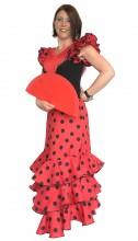 Ladies Flamenco Dress Superior red black