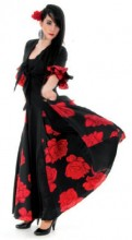 Ladies Flamenco Dress with red roses