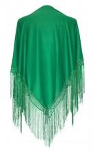Flamenco Shawl plain green