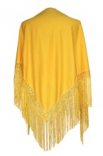 Flamenco Shawl plain dark yellow