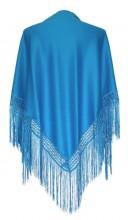 Flamenco Shawl plain blue