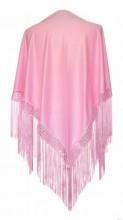 Flamenco Shawl light pink plain