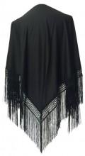 Flamenco Shawl plain black