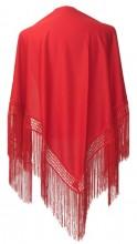Flamenco Shawl Plain red
