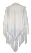 Flamenco Shawl plain white
