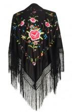 Flamenco Shawl Black flower