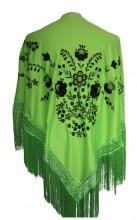 Flamenco Shawl Green Black