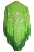 Flamenco Shawl Green White