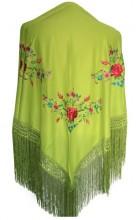 Flamenco Shawl Green flowers