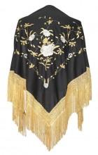 Flamenco Shawl Black Gold
