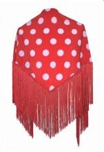 Flamenco Shawl Red White dots