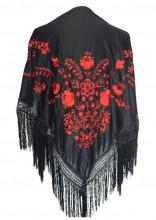 Flamenco Shawl black red Large