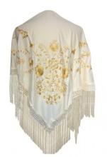 Flamenco Shawl off white gold Large