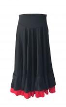 Spanish Flamenco Dance Skirt Girls Black Red