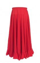 Spanish Flamenco Dance Skirt Girls Red
