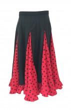 Spanish Flamenco Dance Skirt Girls Red Black dots