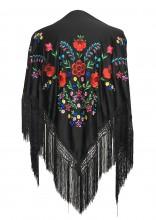 Flamenco Shawl black multi colored