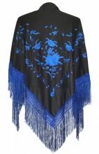 Flamenco Shawl black blue