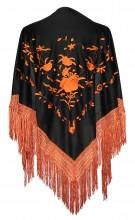 Flamenco Shawl black orange