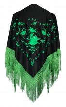 Flamenco Shawl black green
